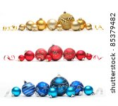 Collection Of Colored Christma...