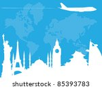 traveling around the world | Shutterstock .eps vector #85393783