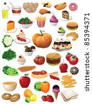 huge food collection 40... | Shutterstock .eps vector #85394371