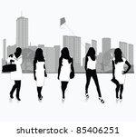 elegant women.victor... | Shutterstock .eps vector #85406251