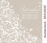 beautiful wedding background | Shutterstock .eps vector #85415035