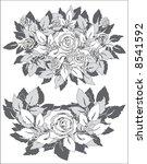 vector gray roses | Shutterstock .eps vector #8541592