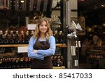 small business owner in front... | Shutterstock . vector #85417033