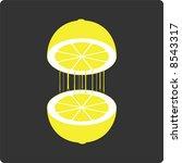 lemonjuice  vector  | Shutterstock .eps vector #8543317