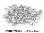 Pile Of Numbers. This Is A 3d...
