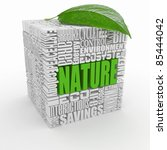 Nature. The concept of the words on white isolated background. 3d - stock photo