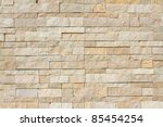 Background Of Stone Wall Made...