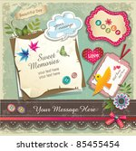 vintage memo scrapbook elements ...