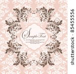elegant damask invitation card | Shutterstock .eps vector #85455556