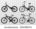 Bicycle illustration collection - stock vector