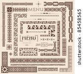 decorative menu and invitation... | Shutterstock .eps vector #85458565