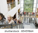 large group of people waiting... | Shutterstock . vector #85459864