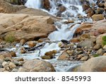 alluvial fan area in rocky... | Shutterstock . vector #8545993