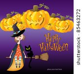 halloween witch background | Shutterstock .eps vector #85463272