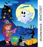 scene with halloween theme 4  ... | Shutterstock .eps vector #85471507