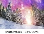 Vivid Winter Landscape