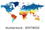 detailed world map with... | Shutterstock . vector #85478032