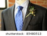 image of a gray suit with blue... | Shutterstock . vector #85480513