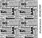 newspaper seamless texture | Shutterstock .eps vector #85481989