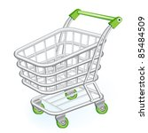 3d,basket,buy,cart,chrome,commerce,commercial,customer,cute,design,empty,glossy,graphic,green,icon