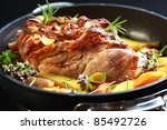 Tasty Roasted Pork Meat With...