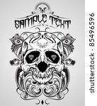 vector illustration   skull t...   Shutterstock .eps vector #85496596