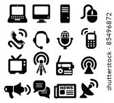 set of communication icons... | Shutterstock .eps vector #85496872