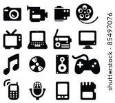 set of multimedia icons  ... | Shutterstock .eps vector #85497076