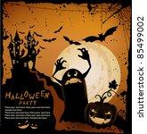 halloween illustration   Shutterstock .eps vector #85499002