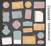 different paper objects for... | Shutterstock .eps vector #85499011