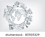 new year  on the planet | Shutterstock .eps vector #85505329
