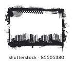 grunge frame with urban... | Shutterstock .eps vector #85505380