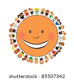 vector happy kids. | Shutterstock .eps vector #85507342