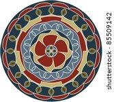 rangoli  alpana  kolam design   Shutterstock .eps vector #85509142