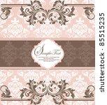 pink vintage damask invitation... | Shutterstock .eps vector #85515235