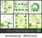 big set of floral spring... | Shutterstock .eps vector #85531222