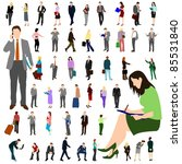 people   business   large set 01 | Shutterstock .eps vector #85531840