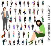 people   business   large set 01 | Shutterstock .eps vector #85531840