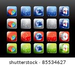 set of mobile application icons | Shutterstock .eps vector #85534627