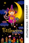 halloween greeting card or... | Shutterstock .eps vector #85540549