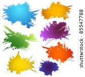 set of ink stains | Shutterstock .eps vector #85547788