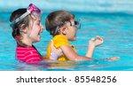 children playing in pool | Shutterstock . vector #85548256