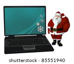 santa laptop 3   santa carrying ... | Shutterstock . vector #85551940