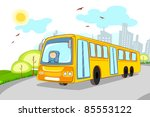 illustration of driver in... | Shutterstock .eps vector #85553122