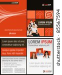 brown  red and orange template... | Shutterstock .eps vector #85567594