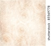 Stock photo textured background with beige rose and space for text 85569778