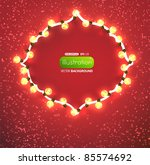 red background with frame and... | Shutterstock .eps vector #85574692
