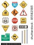 set of 14 highway sign vectors. ... | Shutterstock .eps vector #85582585