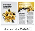 vector business brochure  flyer ... | Shutterstock .eps vector #85614361