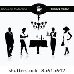 editable vector silhouette of a ... | Shutterstock .eps vector #85615642